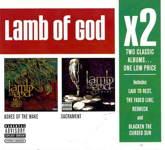 X2 (ASHES OF THE WAKE/SACRAMENT) BY LAMB OF GOD (CD)